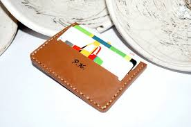 Business Card Case Leather Customized Credit Card Holder Minimalist Leather Business Card