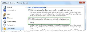 usb safely remove help drive letter management of plug devices