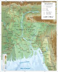Physical Map Of Asia by Large Detailed Physical Map Of Bangladesh Bangladesh Asia