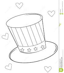 magic hat coloring page stock illustration image 53848682
