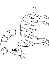 zebra coloring pages printable cute animals images