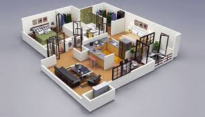 Ideal Home 3d Home Design 12 Review 25 Two Bedroom House Apartment Floor Plans