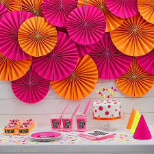 Birthday Decorations In Ireland Neon Pink Circle Fan Party Decorations By Ginger Ray