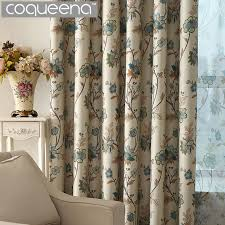 vintage bedroom curtains ready made custom vintage floral blackout curtains for living room