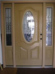 Steel Or Fiberglass Exterior Door Interior Interesting Image Of Single Light Oak Wood Fiberglass