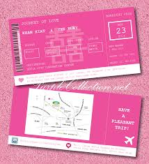 Invitation Cards Size Magenta Boarding Pass Wedding Card Wedding Invitation Cards