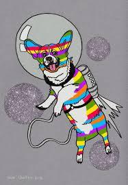 search term sketch 1 rainbow corgi spaceman thefty