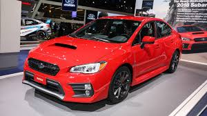 subaru wrx red 2018 subaru wrx and sti pack improved tech into fresh faced package