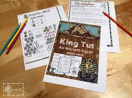 free egyptian king tut printable mini unit surviving a teacher u0027s