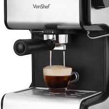 espresso coffee vonshef 15 bar pump espresso coffee maker machine stainless steel