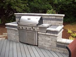 patio grill outdoor grill simple slide your own grill into place home
