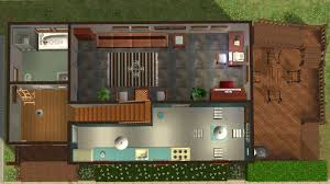 mod the sims house with terrace and balcony in 2 versions frist floor of the fully furnished version