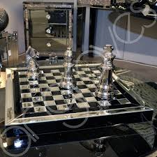 black mirror chequered decorative ornament chess checkers board