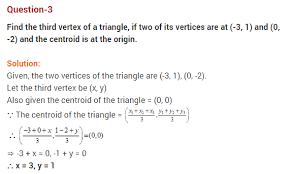 coordinate geometry cbse class 10 extra questions with solutions