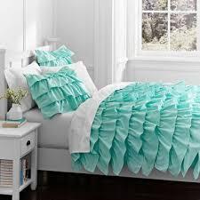 Turquoise Blue Bedspreads Aqua Blue Ruffles Comforter Beach