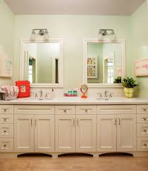 kids bathroom mirrors bathroom transitional with two mirrors