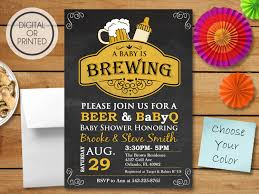 a baby is brewing invitation bbq baby shower invitation baby q