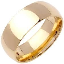wedding ring depot 18k yellow gold dome plain band 8mm 3002712 shop at wedding
