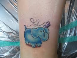 cute blue cartoon elephant tattoo designs tattoo ideas pictures