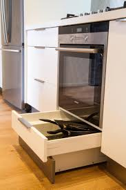 Kitchen Cabinet Kick Plate Integrated Kickboard Drawer Drawer Under Oven White Kitchen Www