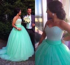 mint green ball gown muslim wedding dresses 2016 floor length