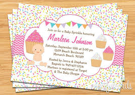 what is a sprinkle shower cupcake baby sprinkle shower invitation pink baby grl