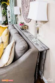console table behind sofa against wall diy behind the couch table table designs