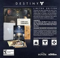 destiny collector u0027s editions ps4