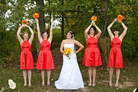 fall bridesmaid dresses fall wedding bridesmaid dresses orange wedding decorate ideas
