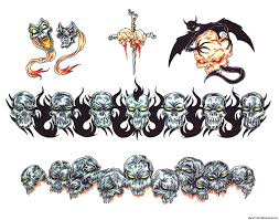 skulls armband tattoos designs