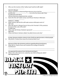 black history month biographies quiz answer key woo jr kids
