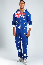 Flag Clothing Australian Flag Fleece Onesie Pajama Printed Buy