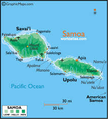 map samoa samoa large color map by world atlas