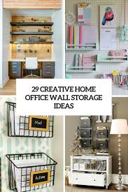 Creative Home Interiors by 29 Creative Home Office Wall Storage Ideas Shelterness