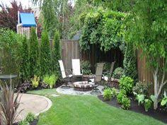 Nice Decoration Small Backyard Landscape Design With Lush Grass - Small backyard design