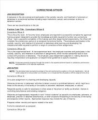 Job Desk Safety Officer Sample Correctional Officer Job Description 7 Examples In Pdf