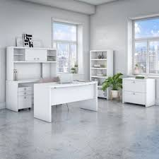 Hutch And Kathy Office By Kathy Ireland Echo Bow Front Desk With Mobile File