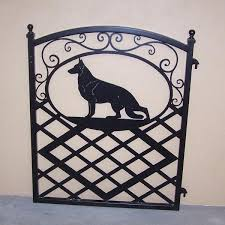gate with german shepherd silhouette modern iron works