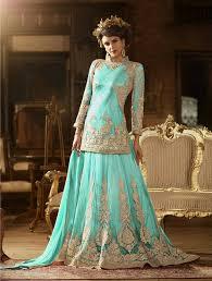 engagement lengha panjabi lenghas with choli buy online southall sky blue punjabi
