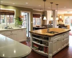 cuisine ouverte avec ilot table cuisine ouverte avec ilot central deco maison moderne