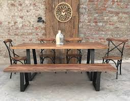Teak Indoor Dining Table Live Edge Slab Furniture U2022 Nifty Homestead