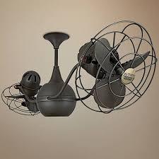 dual fan ceiling fan 44 casablanca verse dual mount maiden bronze ceiling fan 8p341