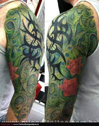 biomechanical tribal on arm photos pictures and