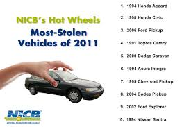 nissan cars names nicb names 10 most stolen vehicles for 2011 digital dealer