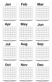 free printable modern minimalist fill in calendar use for any