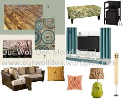Brown Themed Living Room by Mood Board U2013 Green Blue And Brown Living Room Our Wolf Den