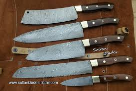 kitchen knives custom handmade damascus steel blade kitchen knives set sultan