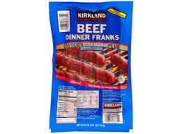 kirkland wrapping paper get kirkland signature beef dinner franks hot dog 3 81 lbs 14 pack
