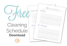 printable house cleaning schedule cleaning schedule free customizable cleaning schedule with video