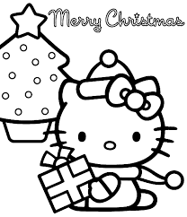 Hello Kitty Coloring Page Christmas Christmas Coloring Pages Of Hello Tree Coloring Page